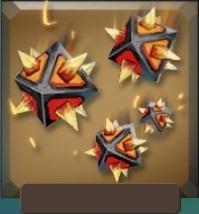 Flame boulders