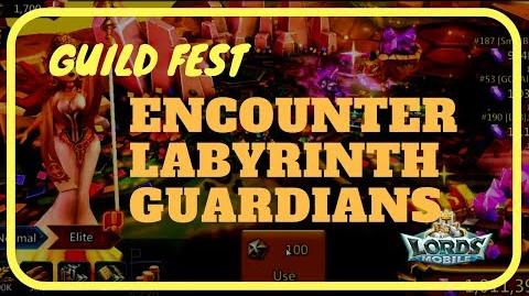 Lords Mobile Encounter Labyrinth Guardians (Guild Fest)