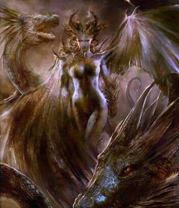 Dragon queen version 01 by thebastardson-d6kpym2