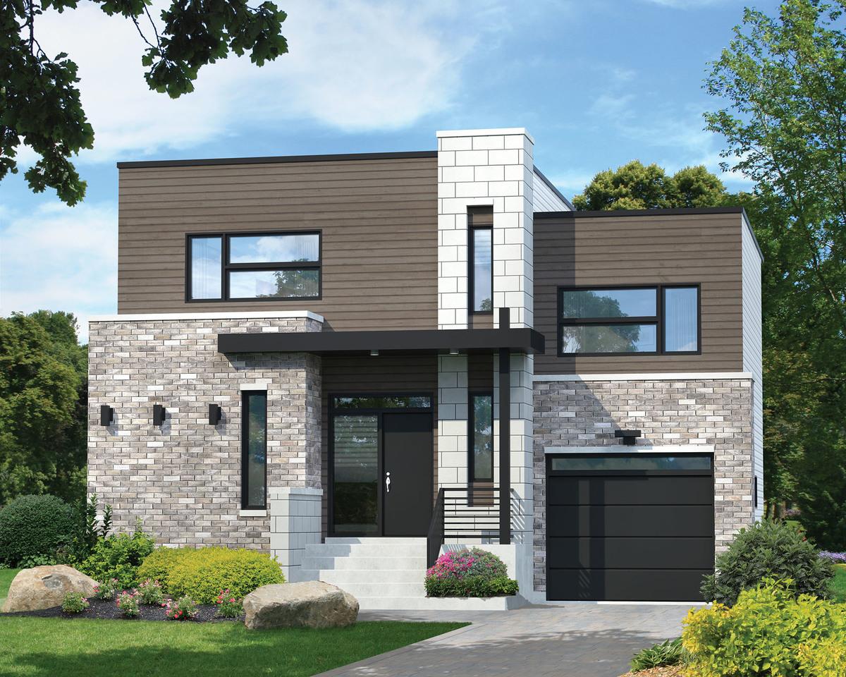 Imagen casa con 2 dormitorios y 160 mts2 plano y fachada for Fachadas de casas modernas wikipedia
