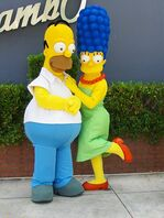 451px-The Simpsons - Universal Studios Florida - Homer and Marge