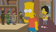 Bart mirando coleccion