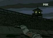 Muro y caseta del guardia