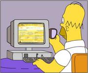Homer colaborando en Wikisimpson