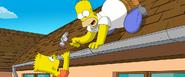 Bart y homer simpsons movie
