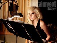 Lady Gaga en el set de grabación