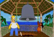 Simpsons-Misionary Impossible Homer native girl and the cliche church bell crop