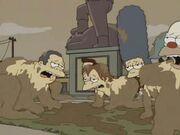 Gente de Springfield actuando como animales 4
