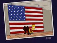 Bart y la bandera
