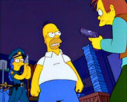 Homer y marge policia