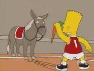 Bart y un burro