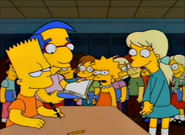 Bart firma el anuario de Becky