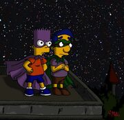 Simpsons Bartman and Houseboy by MagicMikki