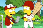 Bart at bat