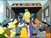 Krusty bajo arresto