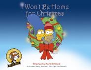 I Won't Be Home For Christmas promo poster