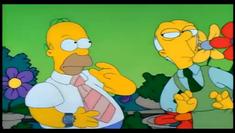El florista aconsejando flores a Homero