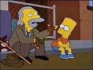 Bart y anciano