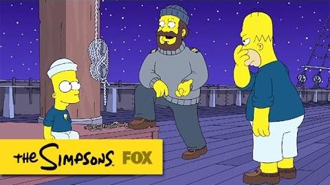 "Bart Ties A Perfect Halyard Cleat from ""The Wreck of the Relationship"" THE SIMPSONS-0"