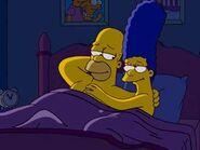 Homero y Marge en la cama