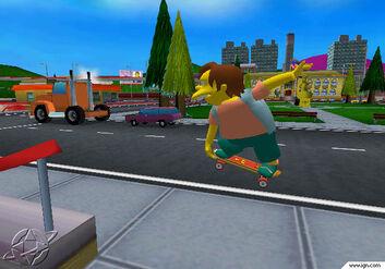 The simpsons skateboarding 207221