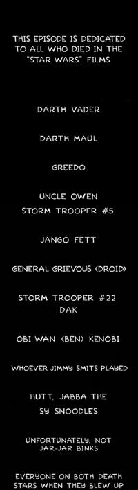 Créditos Star Wars