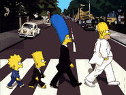 LOS SIMPSONS ABBEY ROAD