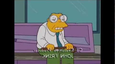 Los Simpson - Nadie quiere al hombre topo