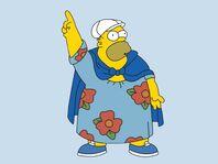 Homero obeso con su vestido
