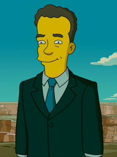 Tom Hanks en los Simpson