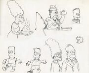 Simspons first sketches