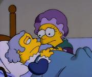 Lisa y Ralph como George y Martha Washington