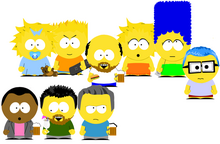 South park crossover simpsons by bluegirl456