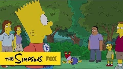 "Bart Betrays Milhouse from ""Yellow Badge of Cowardge"" THE SIMPSONS ANIMATION on FOX"