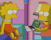 The simpsons Gone Abie Gone bart lisa laptop