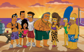 Fat Tony, Selma , Homer, Marge y los sibrinos de Fat Tony