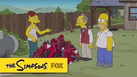 """Homer Tries to Buy Fireworks from Cletus from """"Yellow Badge of Cowardge"""" THE SIMPSONS"""