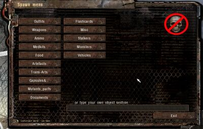 SLA Spawn Menu