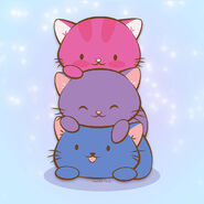 Bisexual Pride Cats