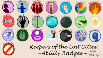 Keeper of the lost cities ability badges by blazetailx-db59ar6
