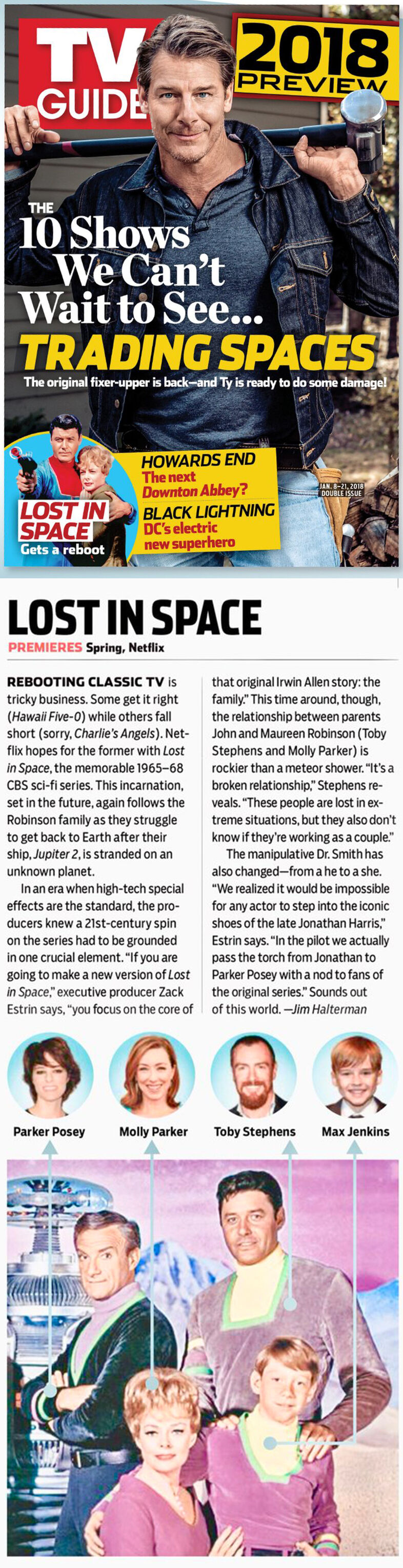 2017-12-30 - TV Guide - Jan 8-21 2018 - Lost in Space gets a reboot