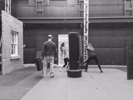 Season 5 bts - rehearsal (Silk w Skarsten stunt double)