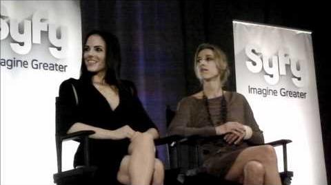 Anna Silk and Zoie Palmer - 2011 Syfy Digital Press Tour