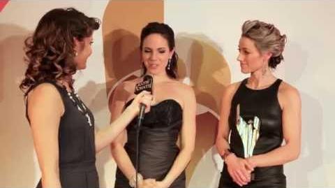 Anna Silk & Zoie Palmer backstage 2014 CSA