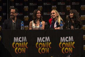 MCM London Comic Con 2013 (Jay Firestone, E Vaugier, R Skarsten, K Solo)