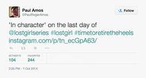 Paul Amos (Season 5 Last Day) tweet (pic attached)