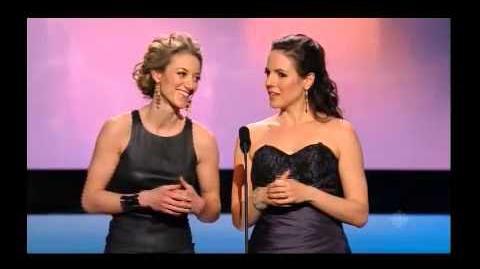 Zoie Palmer & Anna Silk - Present 2014 CSA award