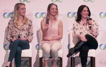 ClexaCon 2017 (Rachel Skarsten, Zoie Palmer, Emily Andras)