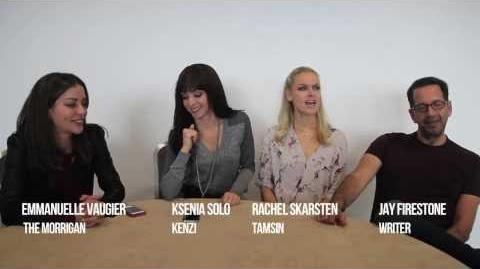 Emmanuelle Vaugier, Ksenia Solo, Rachel Skarsten, Jay Firestone (MCM London CC 2013)