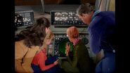 """a colourisation from the lost in space episode """"one of our dogs is missing'(1965)."""